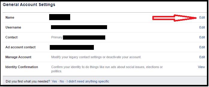 איך משנים שם בפייסבוק של פרופיל או עמוד-3