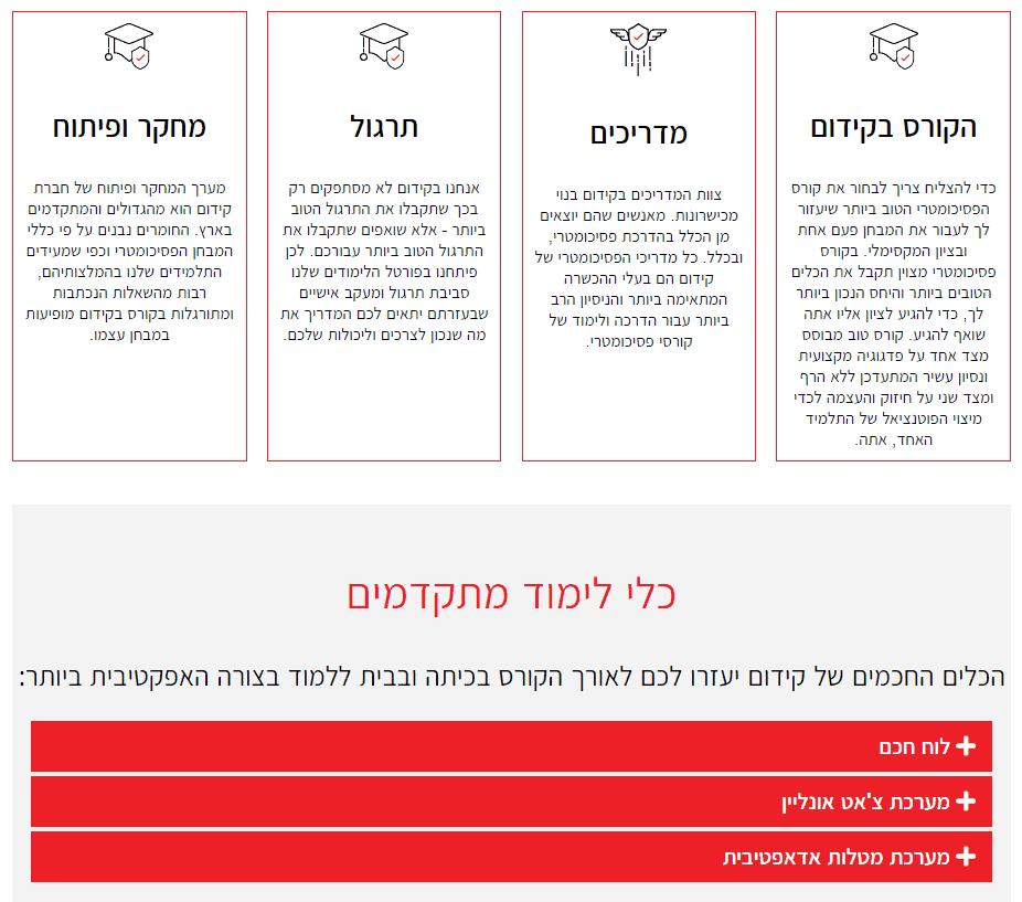 דוגמא לבניית דף נחיתה-3